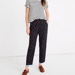 Madewell floral track trousers pants prairie posie